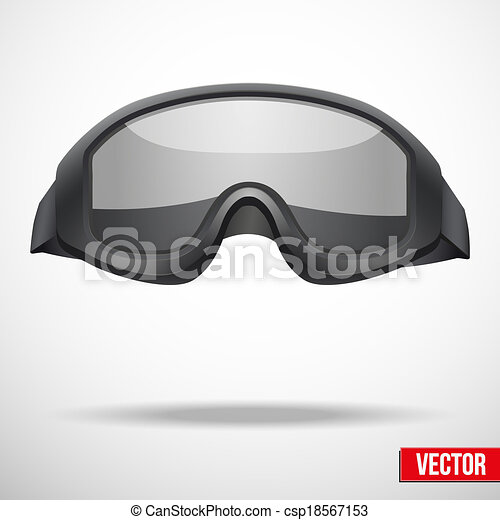 Goggles Vector Military Black Goggles Vector