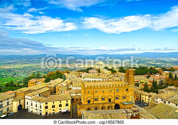 Orvieto medieval town aerial view. Italy - csp18567865