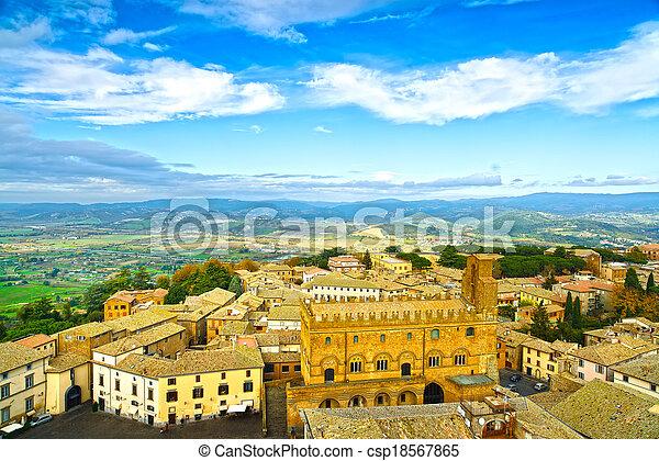 Orvieto medieval town aerial view. Italy - csp18567865