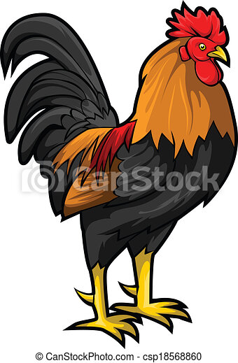 Clip Art Vector of Rooster csp18568860 - Search Clipart ...
