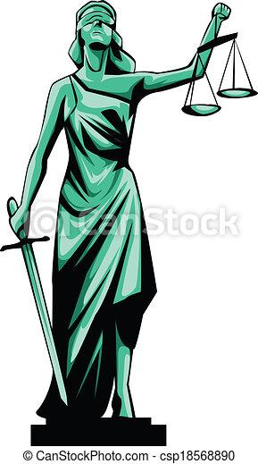 EPS Vectors Of Justice Lady Csp18568890 Search Clip Art