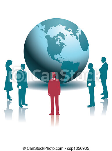 businesspeople and a globe - csp1856905