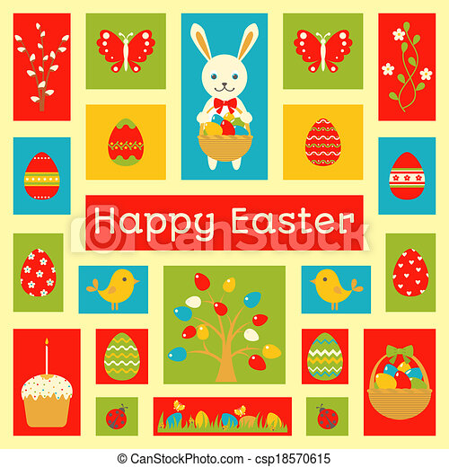 Holiday card with Easter element - csp18570615
