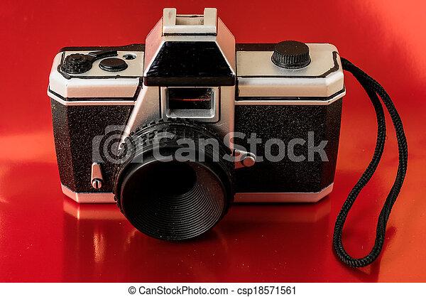 image de jouet classique photo plastique 35mm appareil photo csp18571561 recherchez. Black Bedroom Furniture Sets. Home Design Ideas