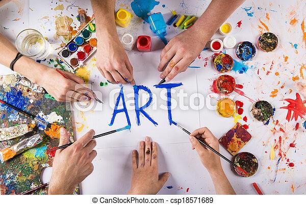 Art concept - csp18571689