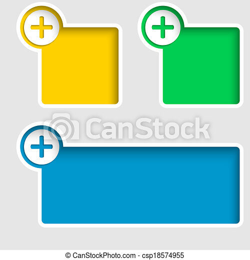 Clipart Vector of text frame with plus sign csp18574955 - Search ...