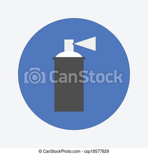 vektor spr hen farbe ikone stock illustration lizenzfreie illustration stock clip art. Black Bedroom Furniture Sets. Home Design Ideas