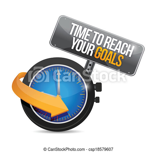 time to reach your goals concept illustration - csp18579607