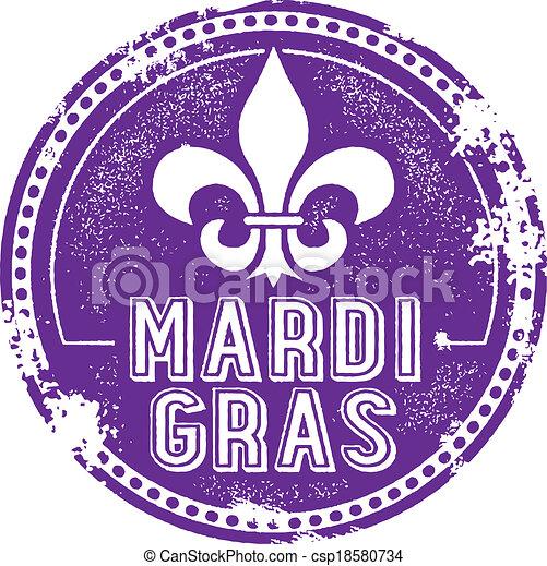 Mardi Gras Holida Stamp - csp18580734