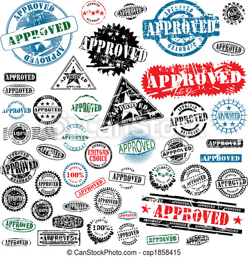 Approved rubber stamps collection - csp1858415