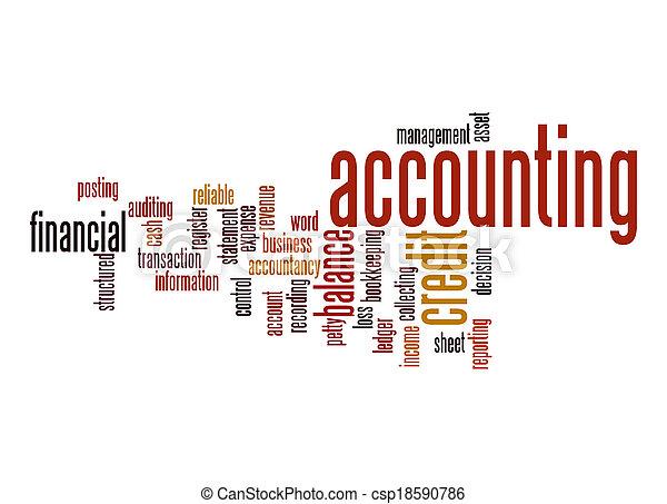 contabilidade, palavra, nuvem - csp18590786