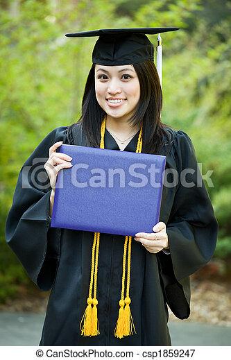 niña, graduación - csp1859247