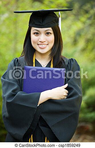 niña, graduación - csp1859249