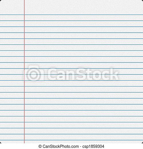 Notebook Filler Paper - csp1859304