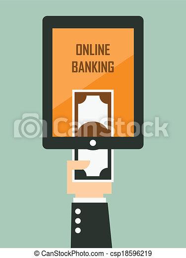 Mobile banking - csp18596219