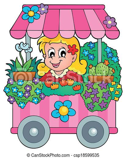 Vectors of Flower shop theme image 1 - eps10 vector ...
