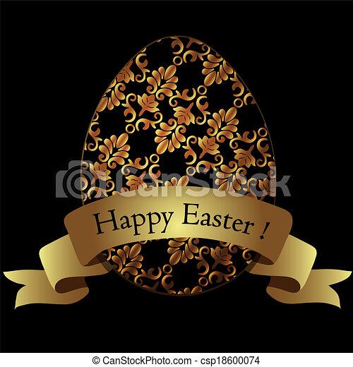 Golden easter egg. - csp18600074