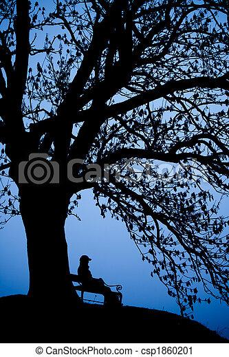 Person Alone - csp1860201
