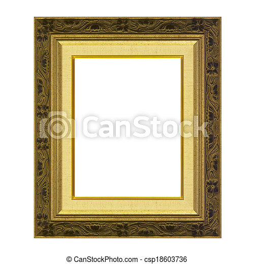 Antique frame isolated on the white background - csp18603736