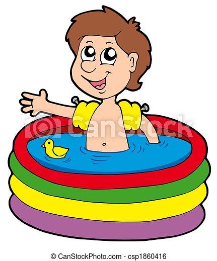 illustration de gar on gonflable piscine gar on dans gonflable csp1860416 recherchez. Black Bedroom Furniture Sets. Home Design Ideas