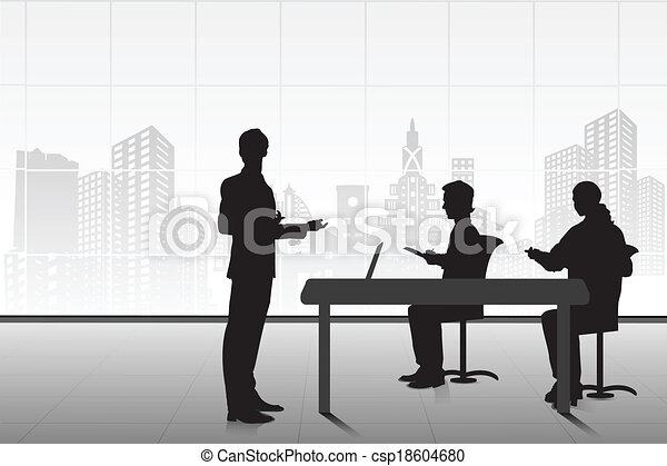 Businessman giving Presentation - csp18604680