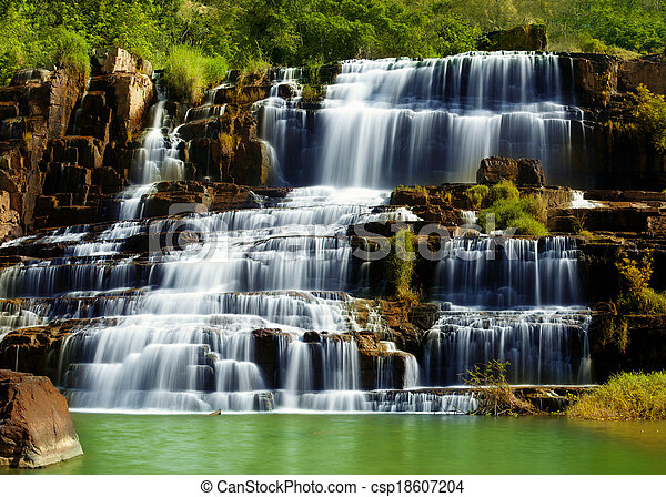 Pongour waterfall in Vietnam - csp18607204