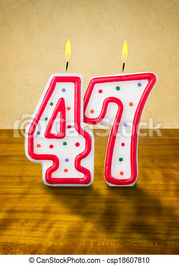 Clipart of Burning birthday candles number 47 csp18607810 - Search ...