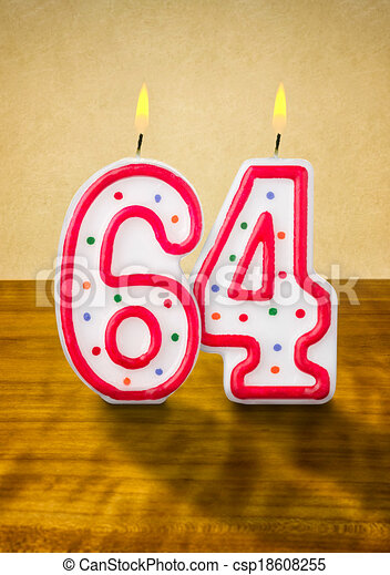 Stock Illustrations Of Burning Birthday Candles Number 64