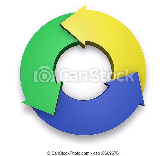Business Arrows Cycle Chart Diagram - csp18609676