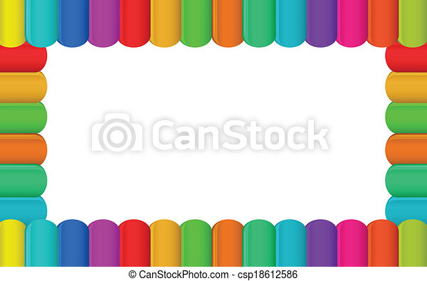 Colorful Border Design Vector Clip Art - Instant Download ...