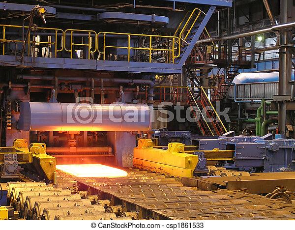 aço, producao, sheet. - csp1861533