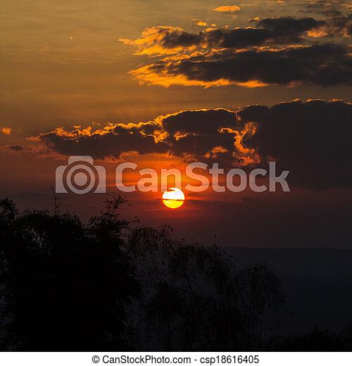 Sunset  Sky - csp18616405
