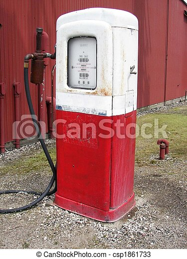 Retro Gas Pump - csp1861733
