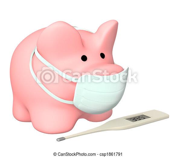 Epidemic of a swine flu - csp1861791