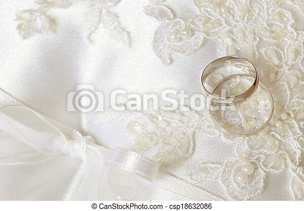 Wedding background with rings - csp18632086