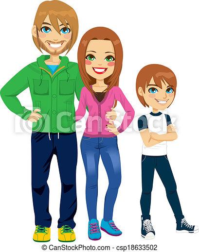 Modern Family Portrait 18633502