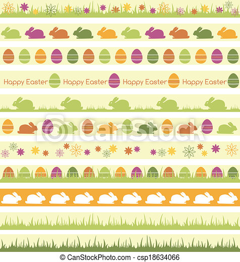 Easter borders - csp18634066