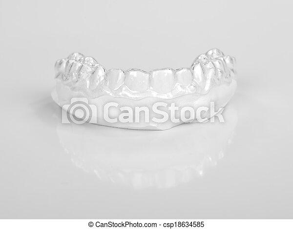 Translucent upper essix retainer - csp18634585