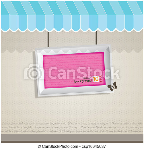 Vintage vector frame with place for your text.  - csp18645037