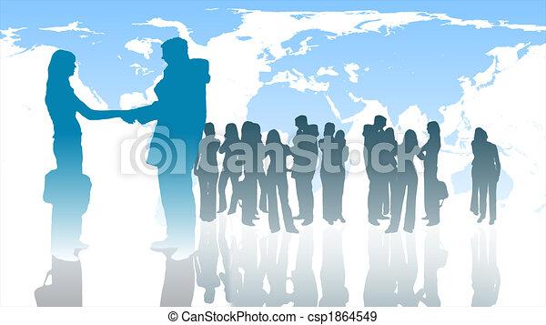 Teamwork in Business - csp1864549
