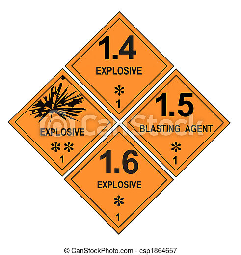 Explosive Warning Labels - csp1864657
