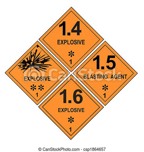 Explosive Warning Labels - csp1864657