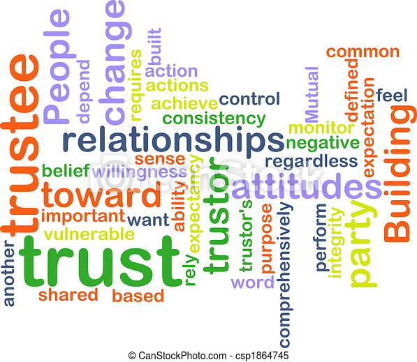 Trust wordcloud - csp1864745