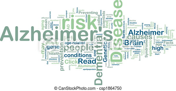 Alzheimer\'s disease wordcloud - csp1864750