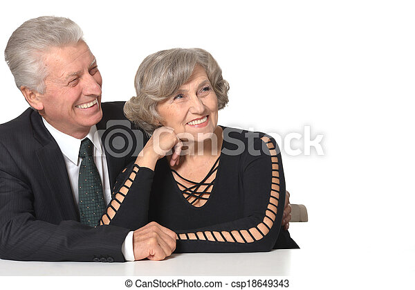 Portrait of an elder couple - csp18649343