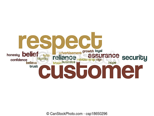 Respect Customer Word Cloud Picture - Instant Download ...