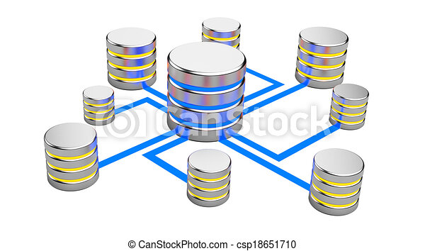 Abstract communications, Database concept - csp18651710