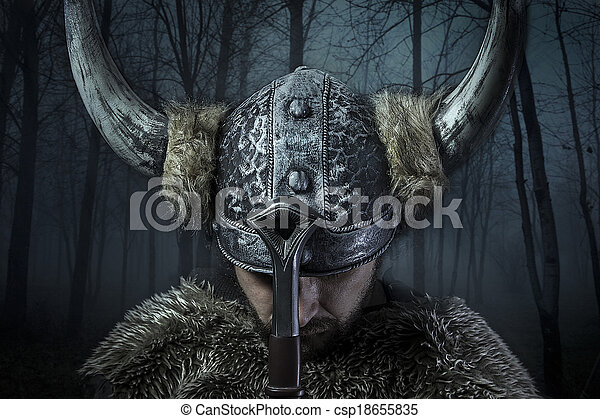 Stock Photos of War, Viking warrior, male dressed in Barbarian ...