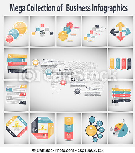 Infographic business template vector illustration - csp18662785