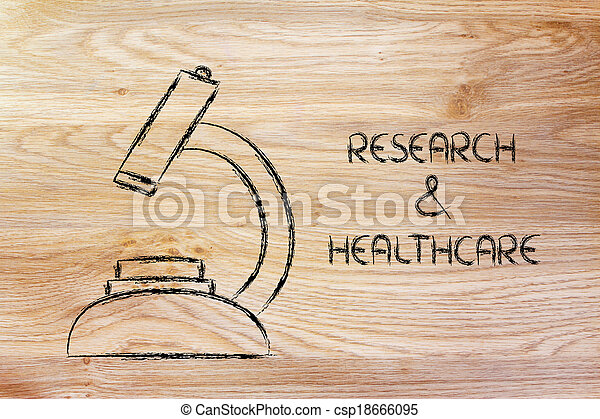 science tools: microscope for research & healthcare - csp18666095